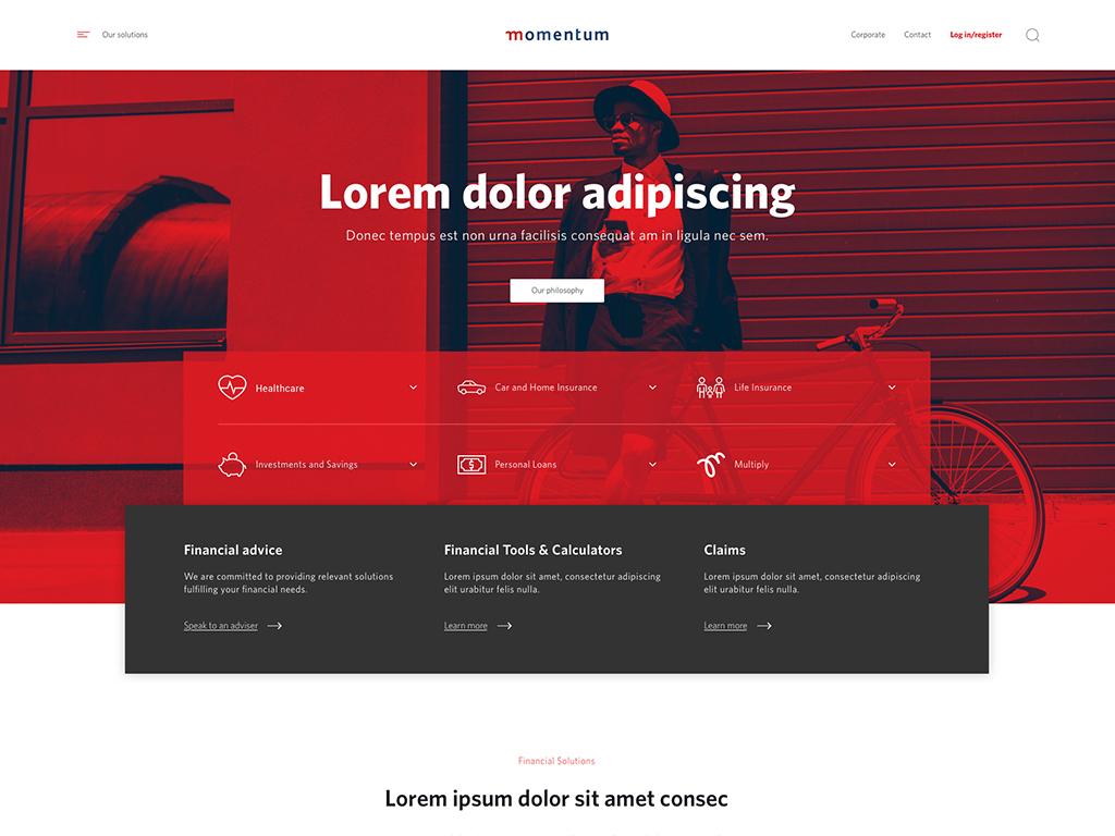Momentum Content - Landing Website