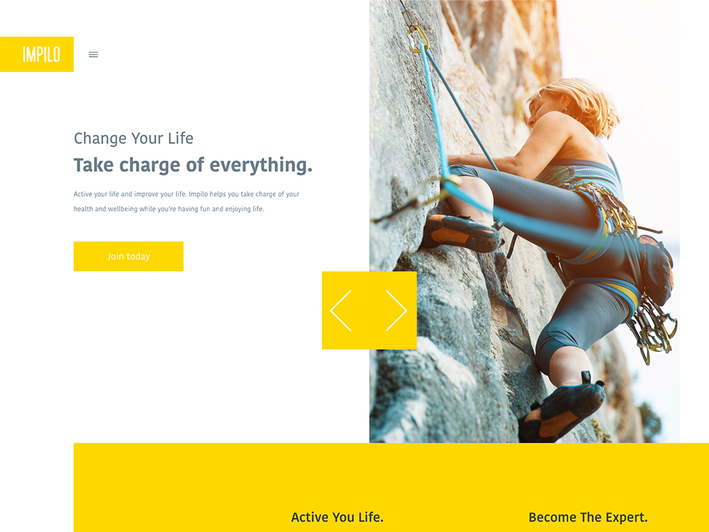 Impilo - Stay Active liyfestyle concept website