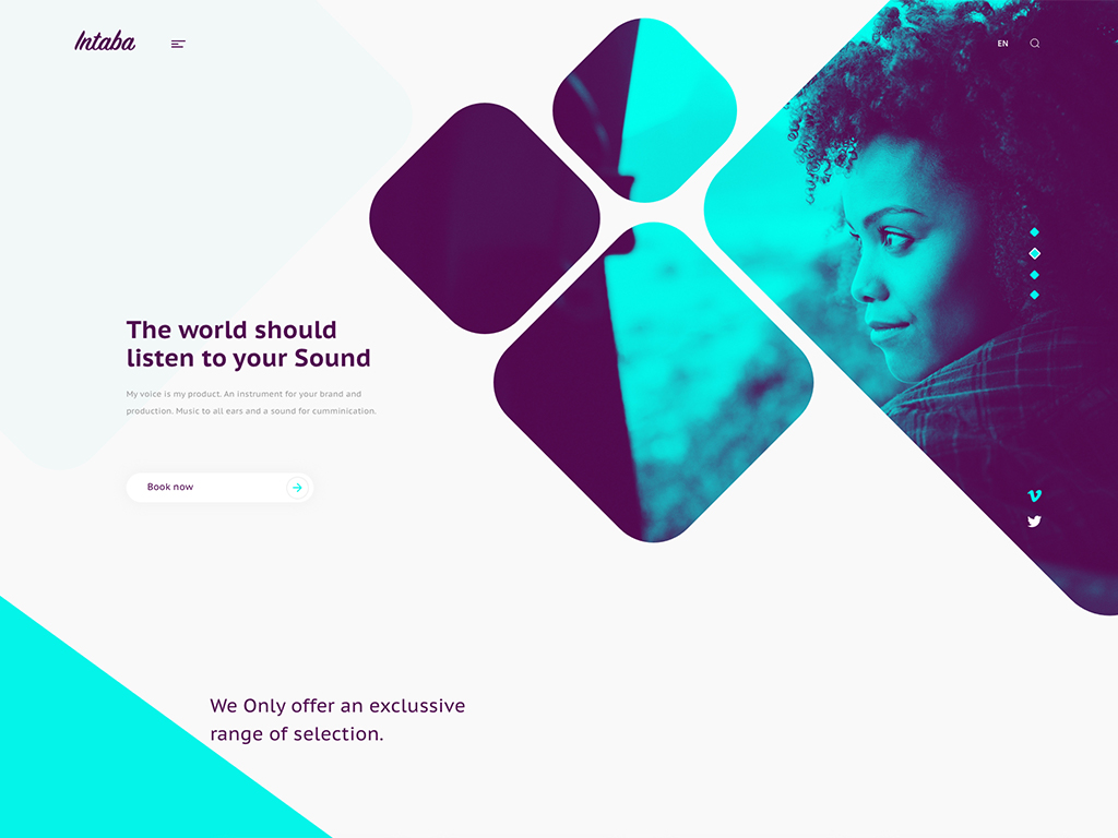 Intaba - Music production concept website
