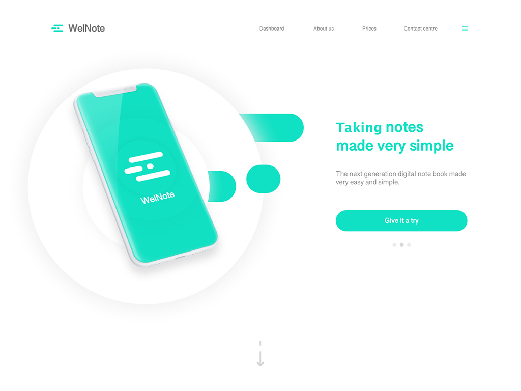 WellNote - Digital note taking application website